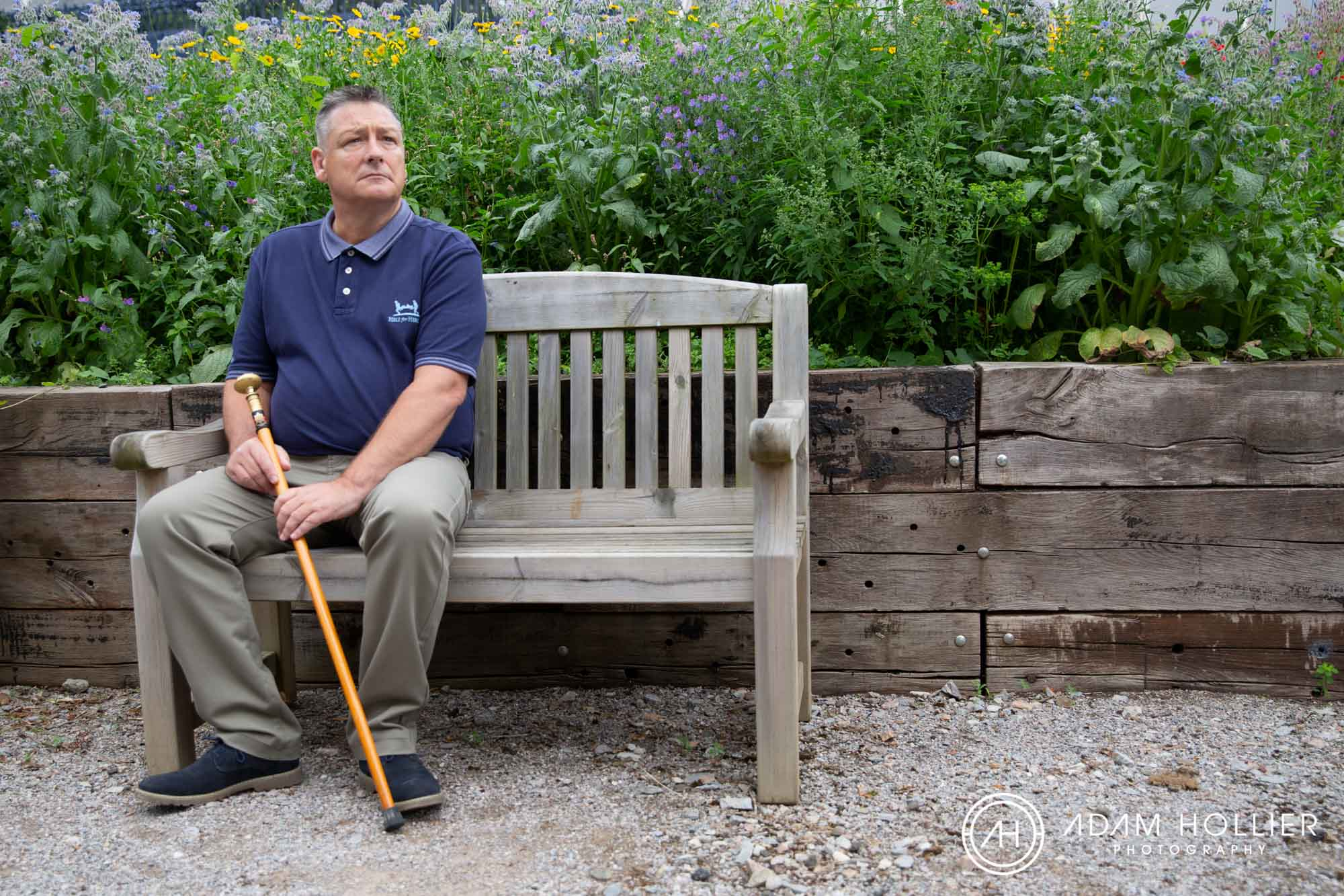 Earlier in the year I was commissioned by Help for Heroes to photograph former soldiers and their artwork for an upcoming  exhibition  exploring how art can help their recovery. This was taken in the Help for Heroes garden in the naval base in Plymouth.