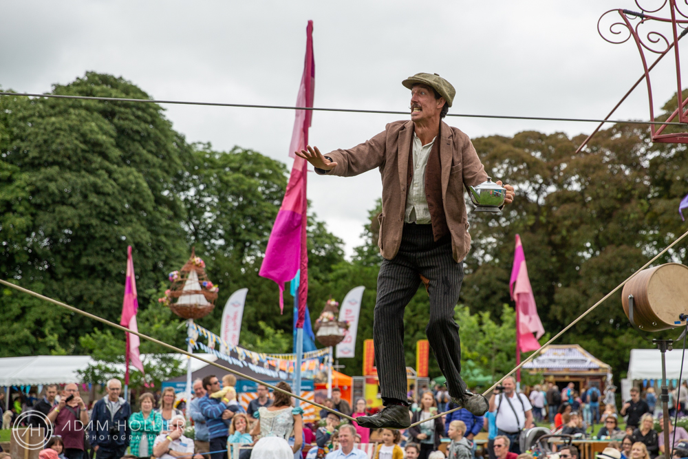 This wonderful tightrope walker, part of the The Bullzini Family featured in Waddesdon Manor's spectacular weekend event, Feast. Shortly after this was taken I was ushered away - just in case!