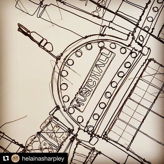 #Repost @helainasharpley ・・・ I've just unearthed this 2014 piece, as it's going to be part of an exhibition in Cafe Ollo @themediacentre  I'm showing several large scale architectural wire works including this Moulin Rouge piece which had been in a box for a long while, she's breathed a sigh of relief and after a clean and tweak is ready for the wall again!  The exhibition will be on for 3 months from Monday, so do pop in and have a cuppa if you're in Huddersfield.  #wirework #art #moulinrouge #artwork #wireart #gallery #exhibition #huddersfield #lifeofanartist #contemporarycraft #architecture #parisianstyle #artistsoninsta #cafeollo