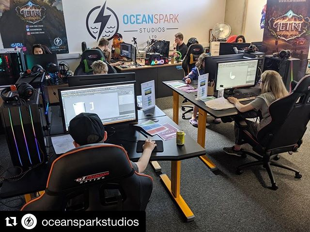 #Repost @oceansparkstudios ・・・ We're having a blast at Ocean Spark Academy this week working on some amazing games! We still have our summer workshops available to book, but spaces are going quickly!  Remember, if you refer a friend you can grab yourself a £10 voucher which can be used on any of our sessions! including everybody's favourite Sunday gaming session!  http://oceansparkstudios.co.uk/academy