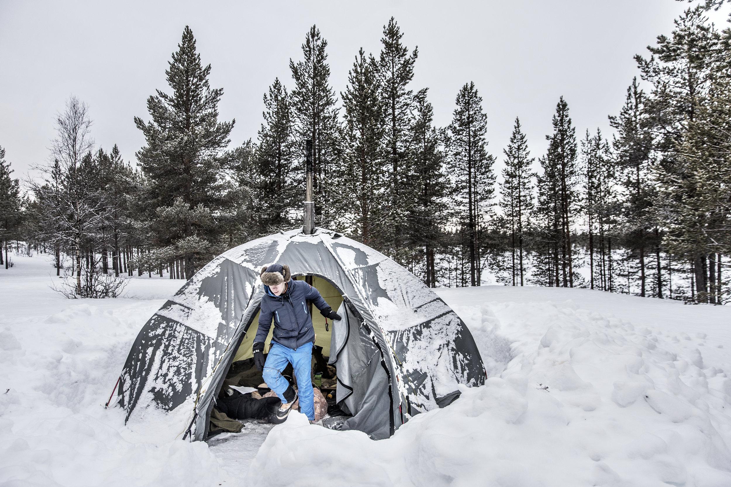 Telt om vinteren med Nprsk Mestring