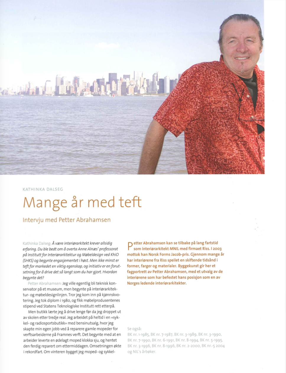 Article BYGGEKUNST 2004-08