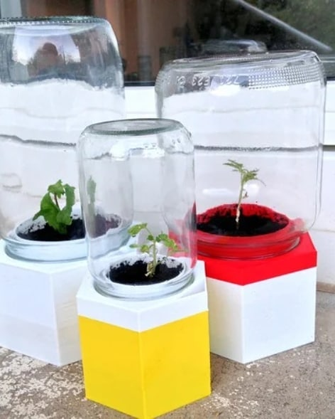 Upcycle your jar in a greenhouse! #makers #malmo #makerspace #3dprint #garden #greenhouse