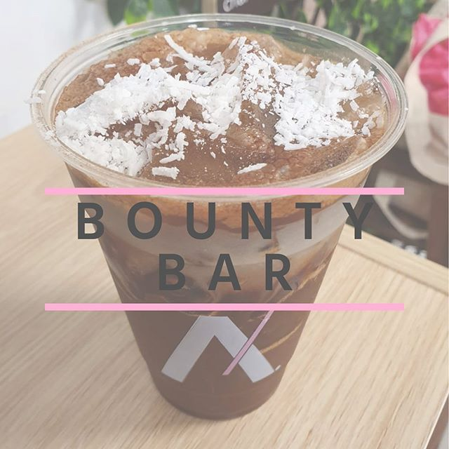 BOUNTY BAR: Our traditional coffee with cocoa and coconut condensed milk makes for a rich and nutty drink. Try one in Cairns and Townsville starting tomorrow, August 13th, for just a short time only🥥💕