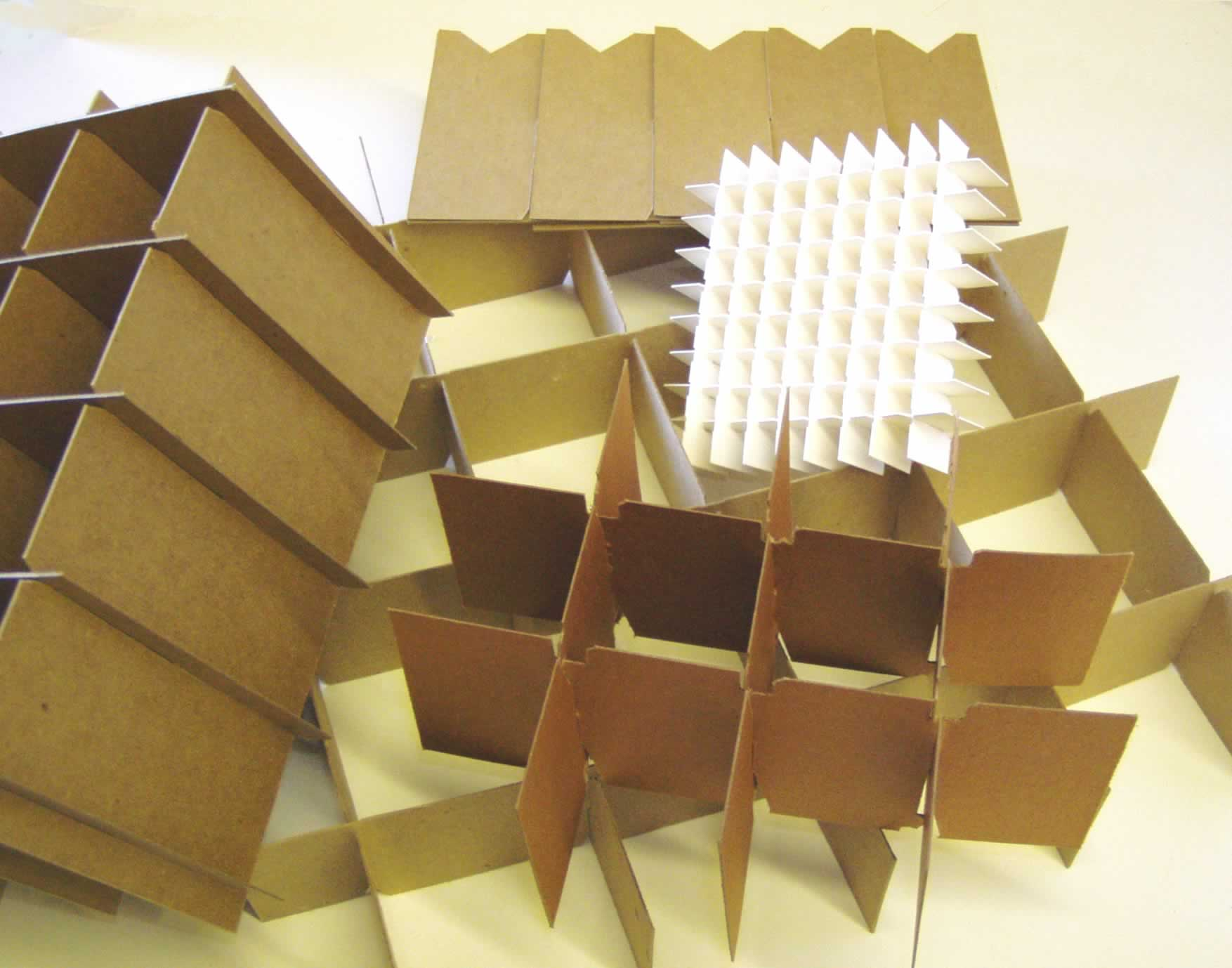 Partition Style Inserts - Pyramid offers quick and economical turnaround on partitions`made from corrugated paper, board or plastic corrugated for any application including a variety of approved abrasion protective laminates for