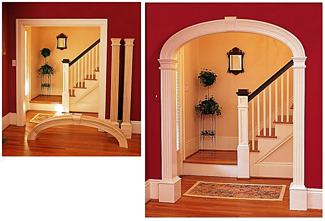 - Add trim to existing archways, convert square doorways to archways, or even easier - add arch door trim to your new home construction!Perfect for new construction or remodel, these few simple steps will INSTANTLY ENHANCE THE VALUE OF YOUR HOME!