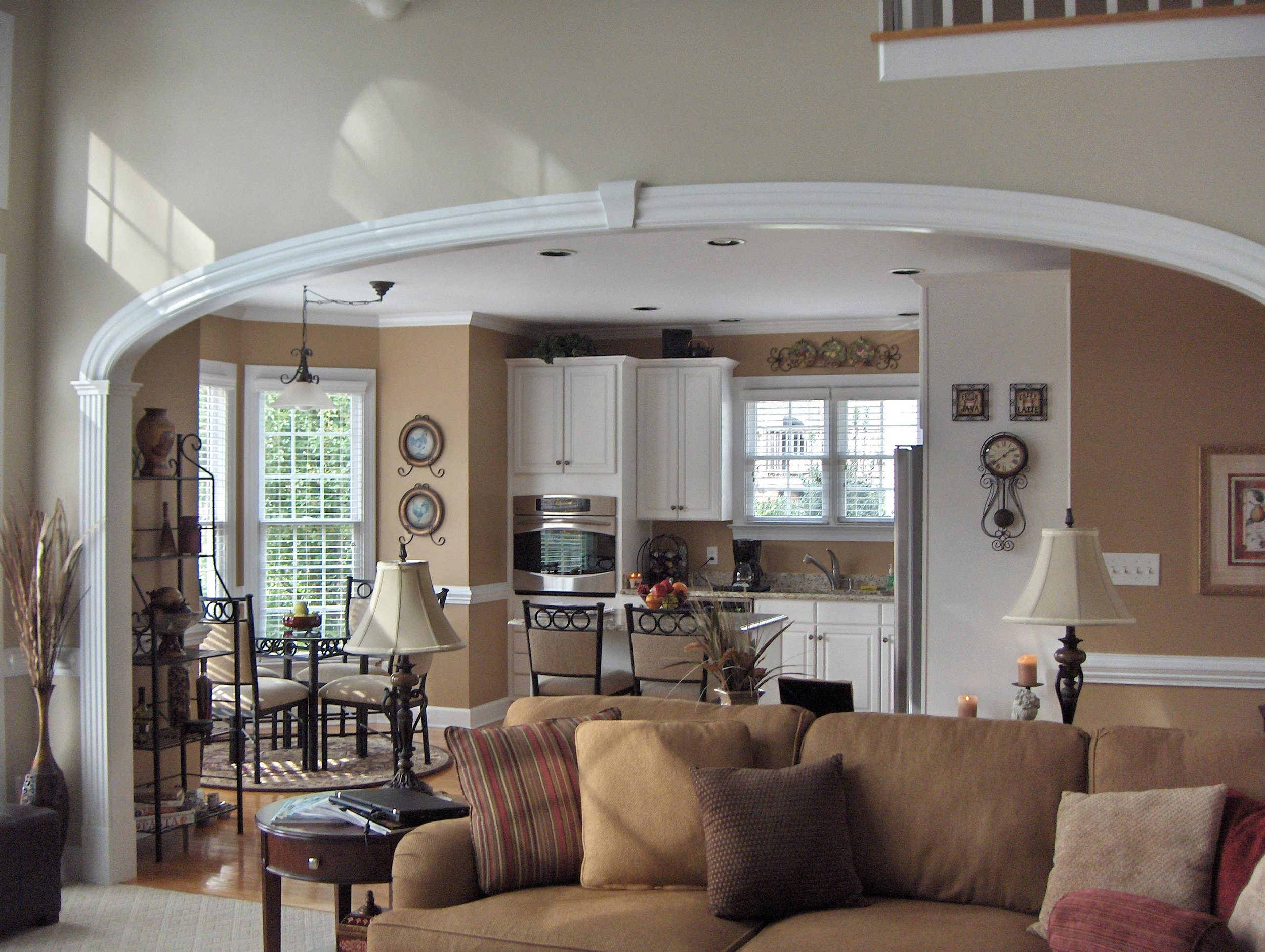 Large Archway Kitchen Family Room