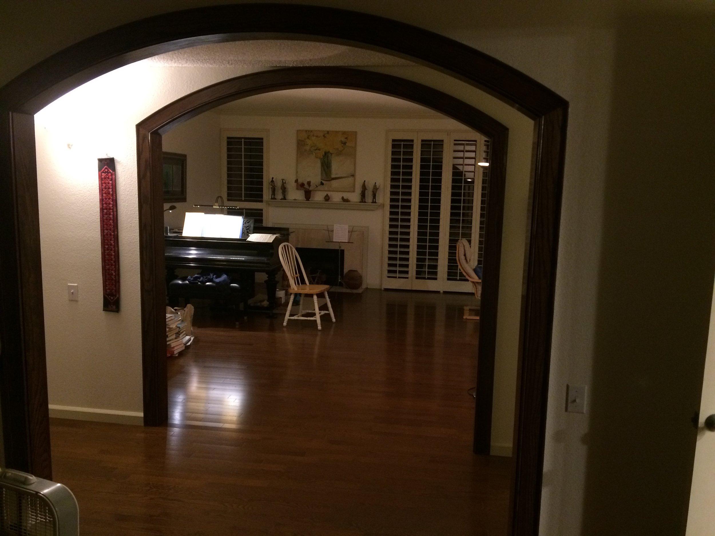 oak arch trim