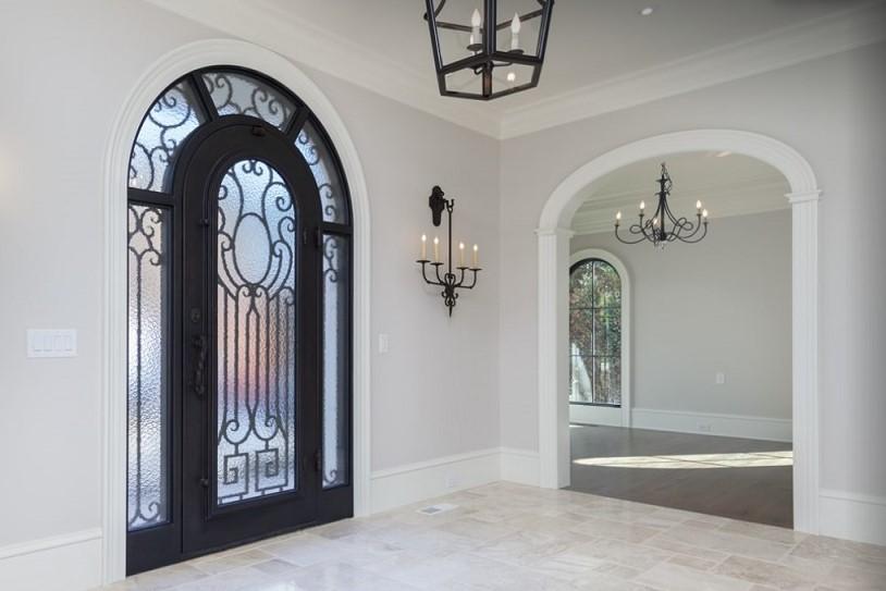 Wood Arch Trim Kit in Foyer - elliptical style - Model C - foyer Arched Entry