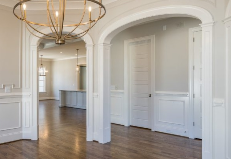 Archway Openings in dining room - cbs style with farmhouse columns
