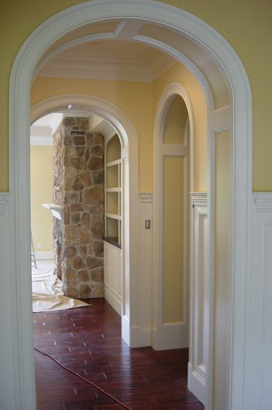 Panel Jamb Arches - frame and flat panel - elliptical arched openings