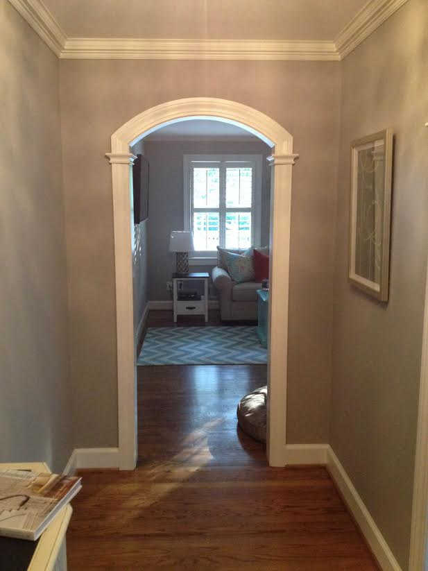 Small Archway Opening in Foyer, ranch style house