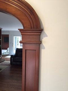 cherry wood archway - close up