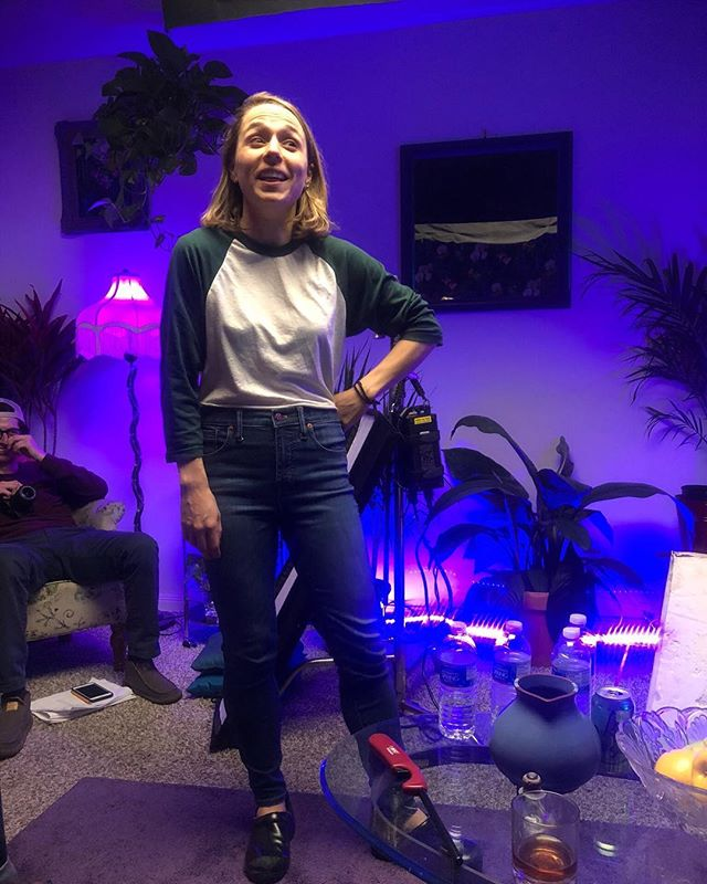 Nearing the end of a long day and an amazing shoot! Our director @kate has a lot to smile about!!! . . . #femaledirector #ladieslunchproductions #femalefilmmakers #amazingshot #purplelights #miami #femalewriter #femaleproducer #femalesoundmixer #onsetlife #smiles #indiefilmmaking #supportindiefilm #shortfilms #excitedaf #hollywoodmagic #inclusionrider