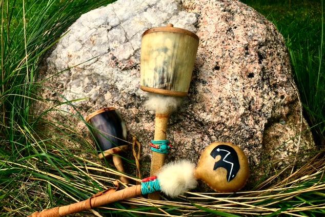 Indigenous rattles