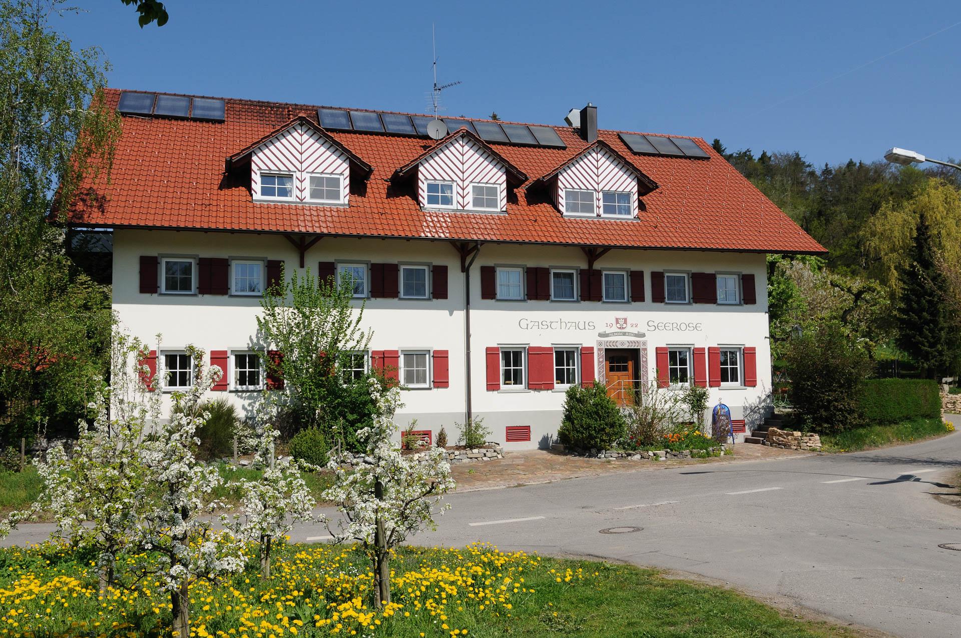 Traumhaft gelegen, das Gasthaus Seerose bei Kressbronn am Bodensee
