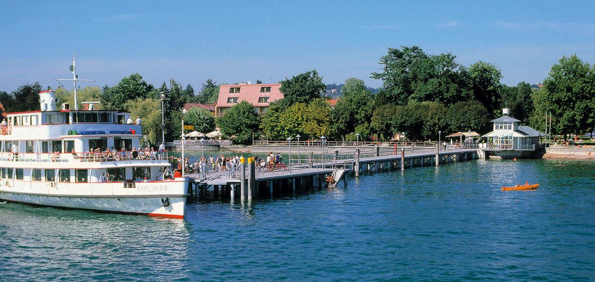 Anlegestelle der weißen Flotte in Kressbronn am Bodensee