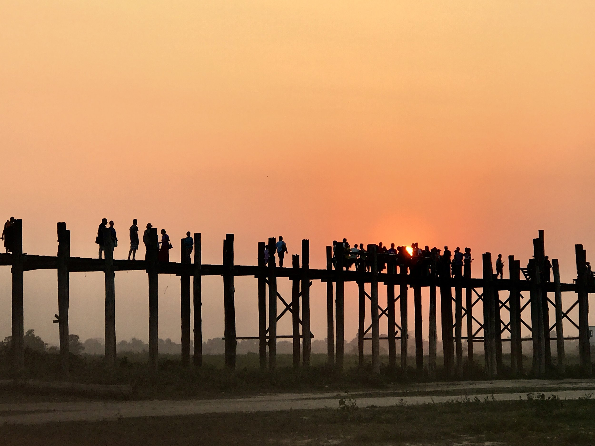 Sunset Bridge-Mandalay