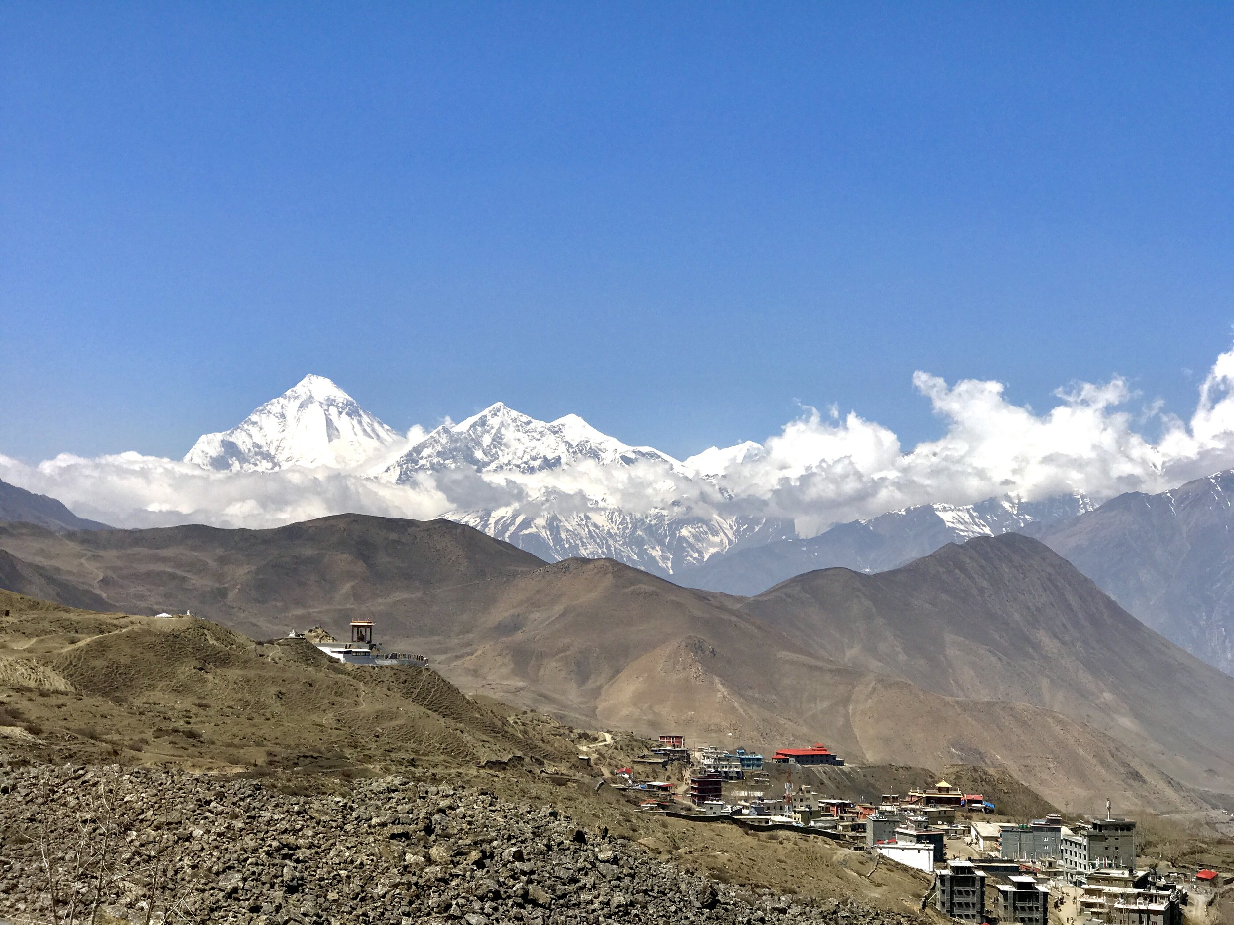 Himalayan Mt. Shot from Muktinath Nepal
