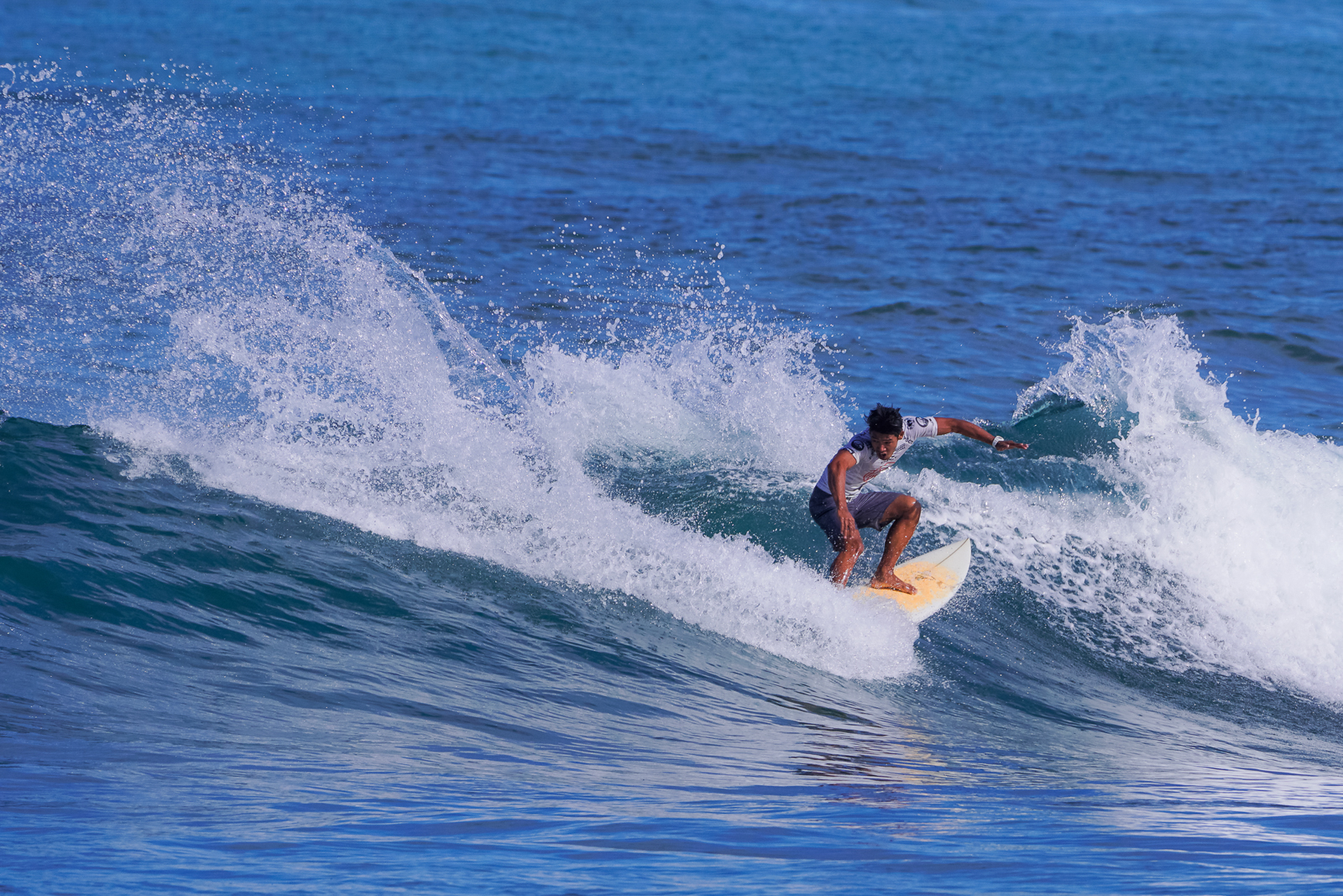 Philippines #3 Neil Sanchez (BALER) in perfect winning form during his semi final heat against John Mark Tokong (SIARGAO)