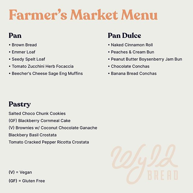Today's menu for @peoplesfoodcoop farmers market 2-7pm! Allllll of the pan and then some made by @eglum 💪🏽💪🏽 and this beautiful design made by @skyebiger 💫✨☀️ teamwork makes the dreamwork!  Thank you everyone who sent such loving and understanding energy my way yesterday. I'll be responding tomorrow, but just had to tell you that you're the fucking best. THANK U THANK U THANK U 🙏🏽🙏🏽🙏🏽🙏🏽🙏🏽🙏🏽