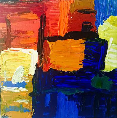 Fields-Acrylic | Canvas | Palette Knife 12 X 12