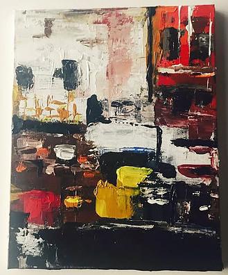 "Harlem-Acrylic | Canvas | Palette Knife  12 X 14"""