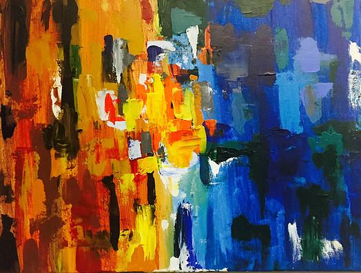 "On the Table-Acrylic | Canvas | Palette Knife  18 X 14"""