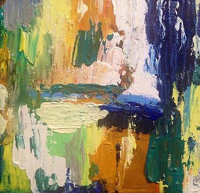 "Open-Acrylic | Canvas | Palette Knife 12 X 12"""