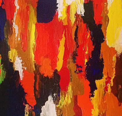 "Pepper-Acrylic | Canvas | Palette Knife 12 X 12"""