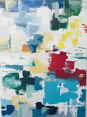 "Quebec City-Acrylic | Canvas | Palette Knife 22 X 30"""