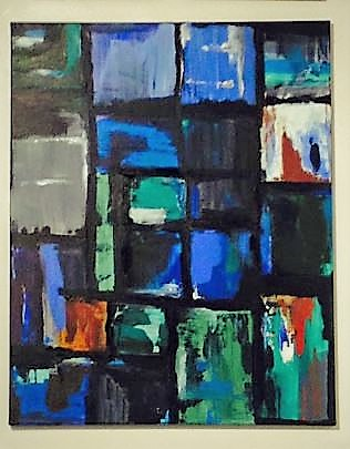 "Remington Window-Acrylic | Canvas | Palette Knife 20 X 30"""