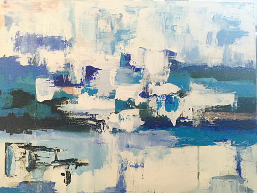 "Sacred Space-Acrylic | Canvas | Palette Knife 18 X 24"""