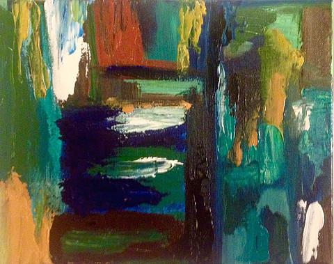 "Window Pane #1-Acrylic | Canvas | Palette Knife 8 X 10"""