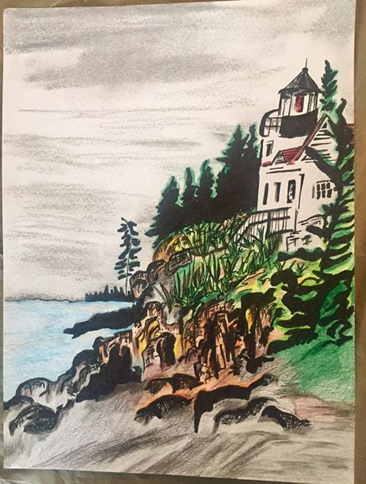 Lighthouse-9 X 12"