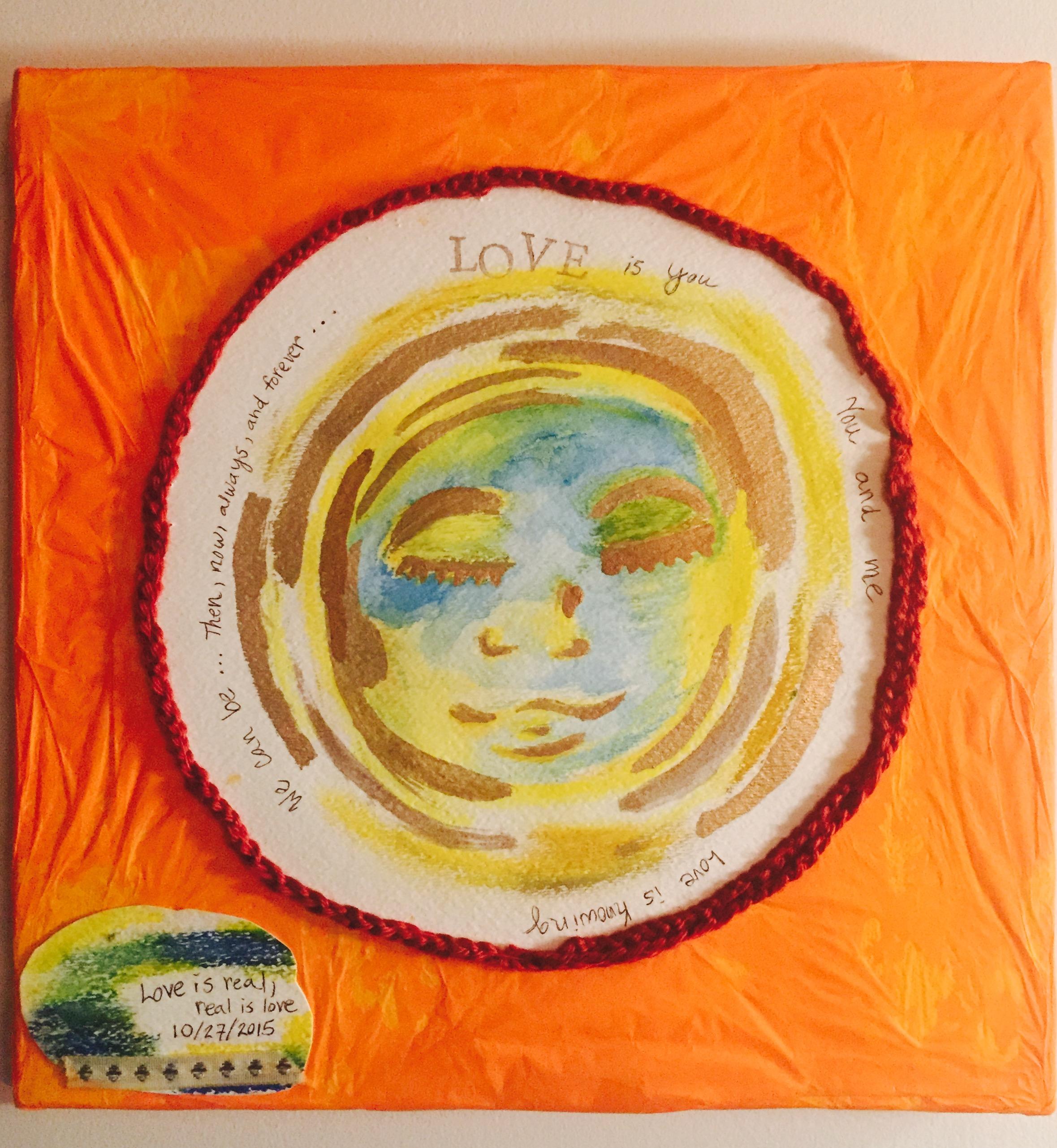 Love Is You-Mixed Media Fiber Art-Canvas