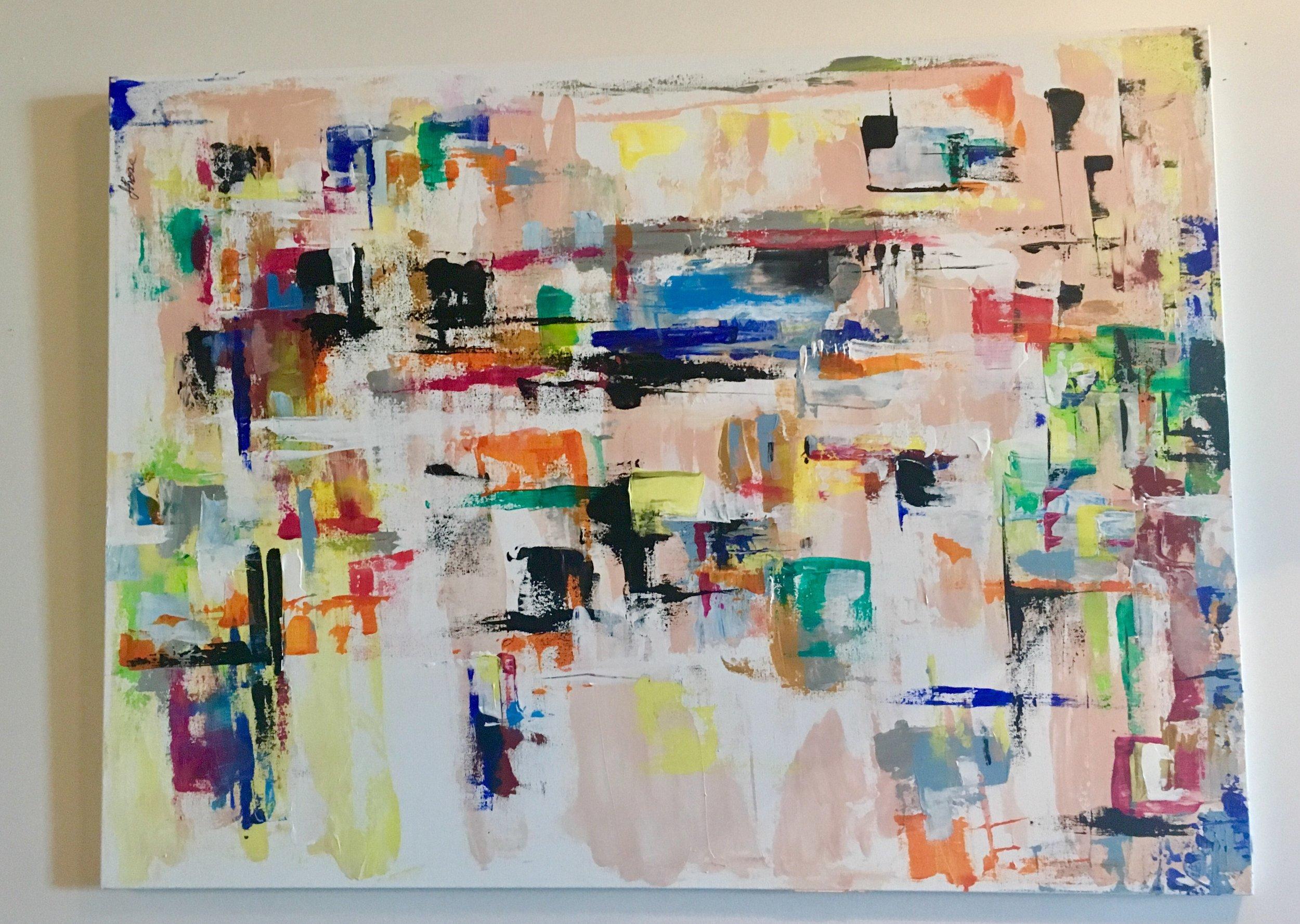 "Mercury Rising-Acrylic | Canvas | Palette Knife 30 X 40"""