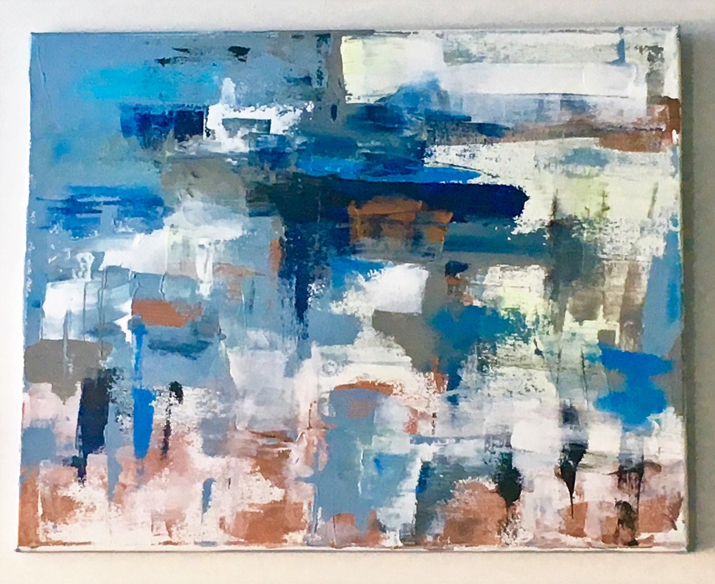"Take a Bow-Acrylic | Canvas | Palette Knife 16 X 20"""