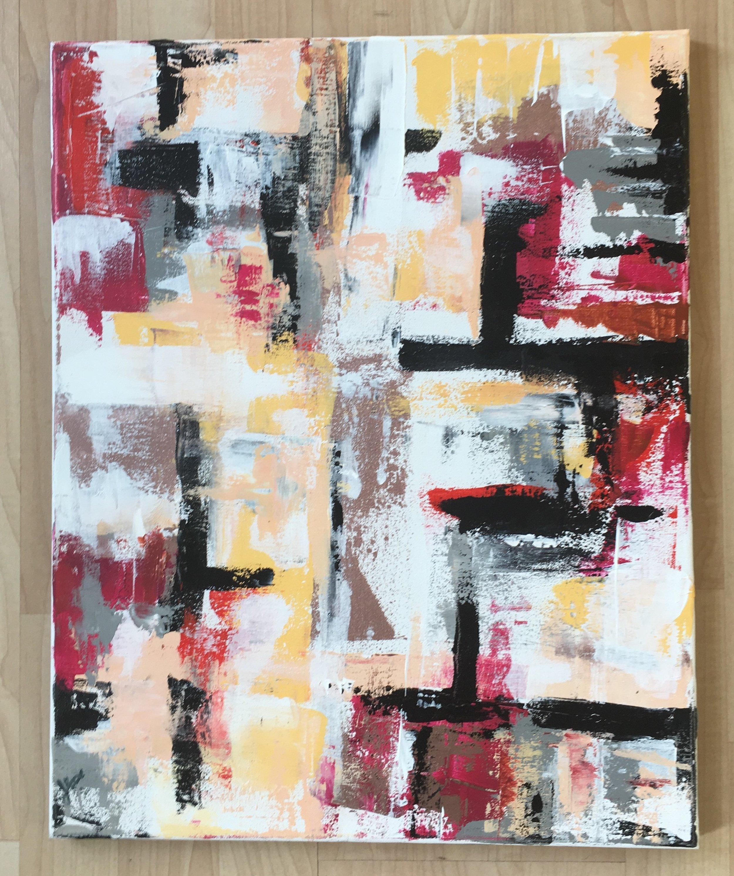 "Raise a Glass-Acrylic | Canvas | Palette Knife 16 X 20"""
