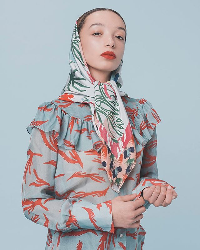 "Sindiso Khumalo AW18 ""Life in the Tropics""  Photography :Simone Lezzi  Model: Leili St Clair Hair and MUA: Azzura Bonaldo  Presented on schedule at Milan Fashion Week in 2018, with the support of Camera Nazionale Della Moda Italiana"