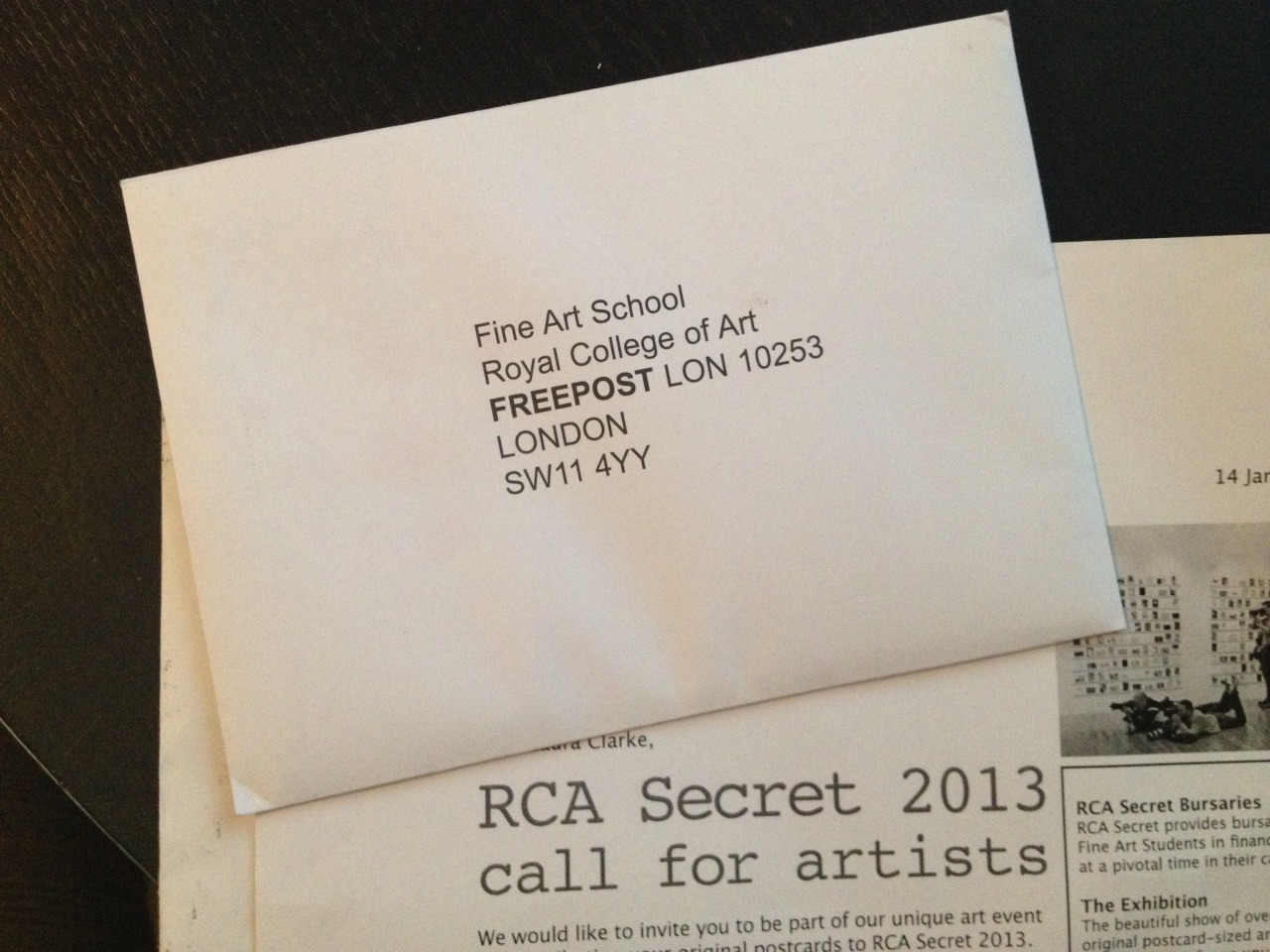 Shhhhhhhh the RCA Secret is almost here! I've got mine ready to post, but you'll have to try and spot them at the exhibition! Open from the 14th - 22nd of March!