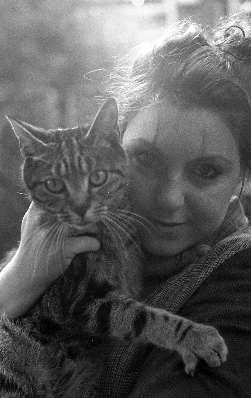 I thought my first post on here should be of me and the little furry man that seems to have imprinted on me, Moreau the cat.