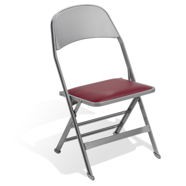 """2517  Add some comfort to the all-steel chair with a 1"""" (25 mm) padded seat and your choice of upholstery."""