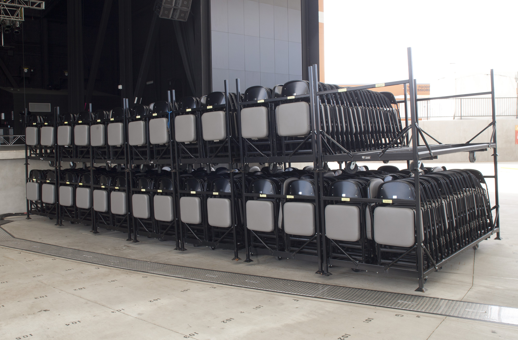 Storage Carts  Made to keep your portable folding chairs organized, easy to move, and maximize floor space.