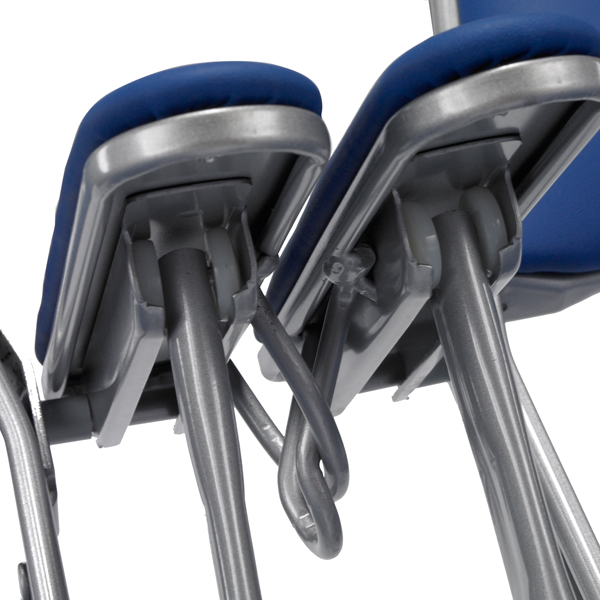 Arm Chair Ganging  Convenient hook and loop ganging for connecting two-arm chairs.  Available on models: 2000, 3000, 4000, Contour, Club, VIP  Click photo to enlarge
