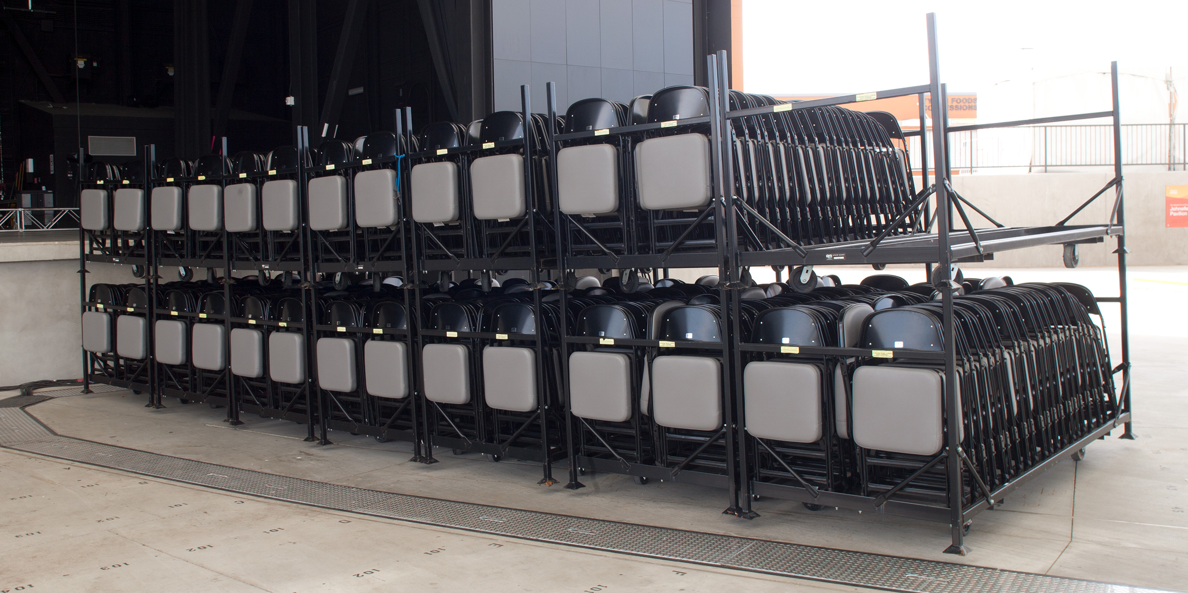 Carts Folding Portable Chairs For Any Venue Clarin Seating