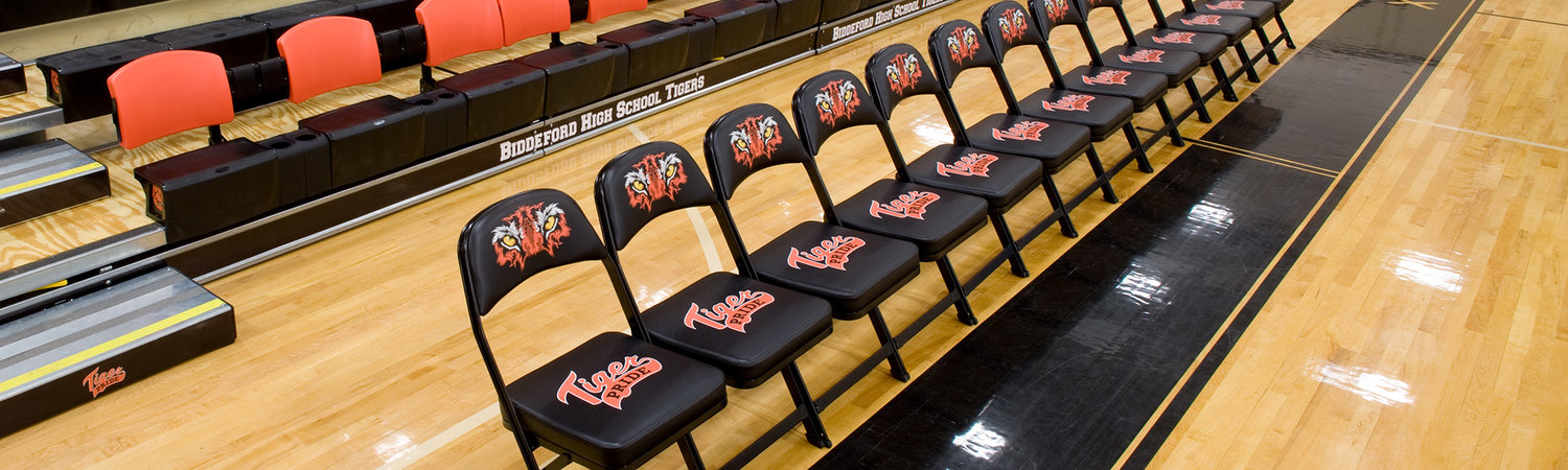 Biddeford High School Folding Portable Chairs For Any Venue Clarin Seating