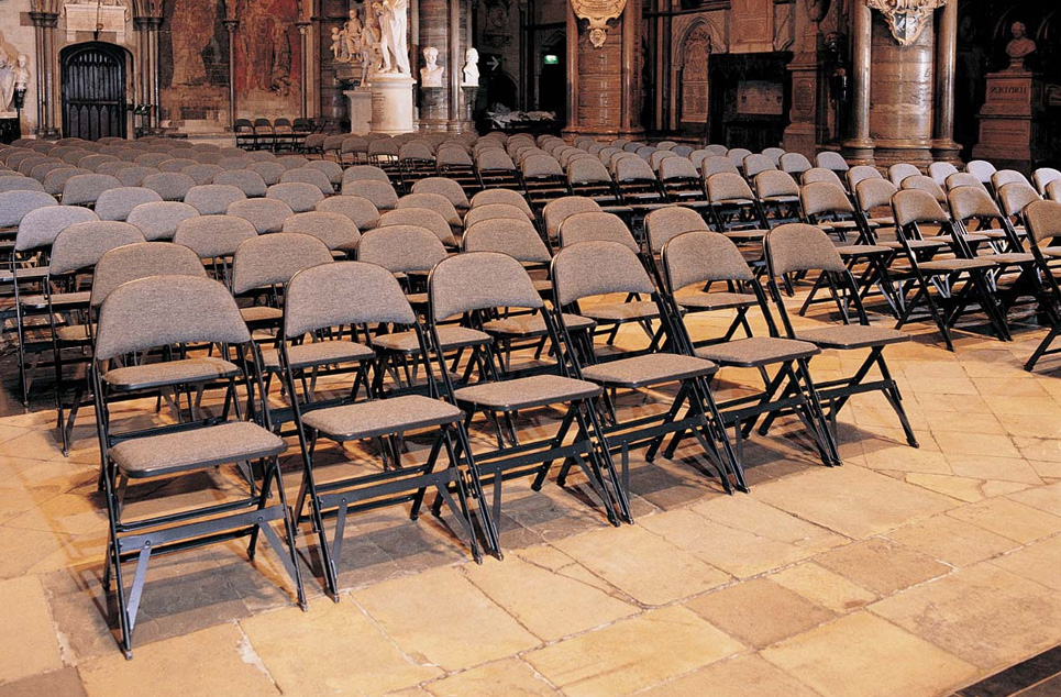 2000 Series   These classic folding chairs are perfect for any facility - high schools, convention centers and even Westminister Abbey.