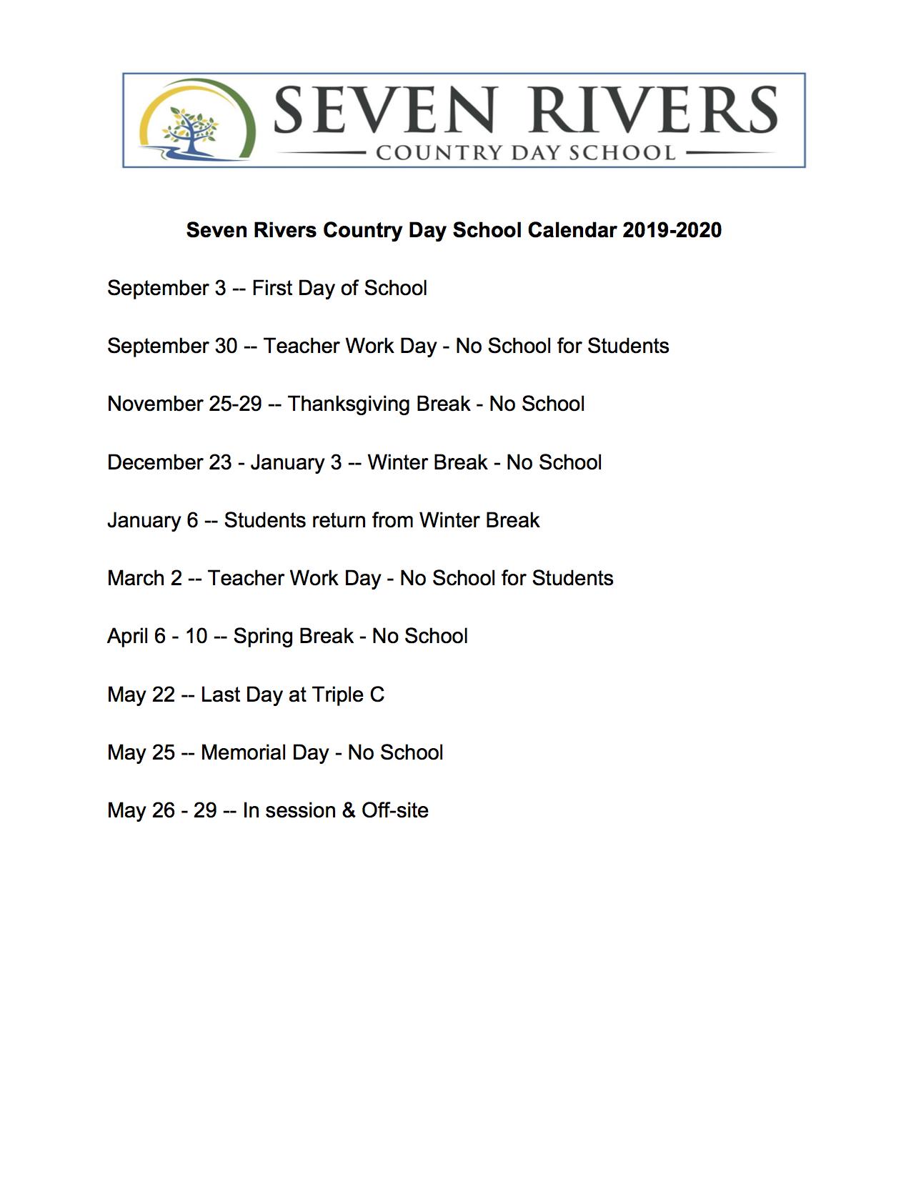 Seven Rivers Country Day School Calendar 2019-2020.jpg