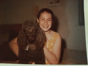 Me, Age 9, with Talley